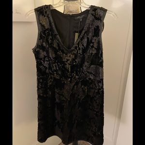 Romeo + Juliet sequined black velvet dress Size M